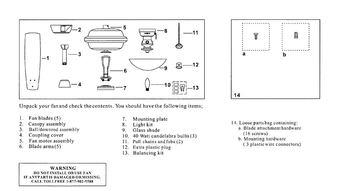 Hampton Bay Ceiling Fan Parts Diagram