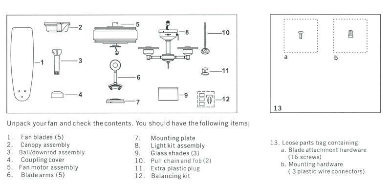 Hampton Bay Fan Parts List : Hampton bay ceiling fan parts manual theteenline